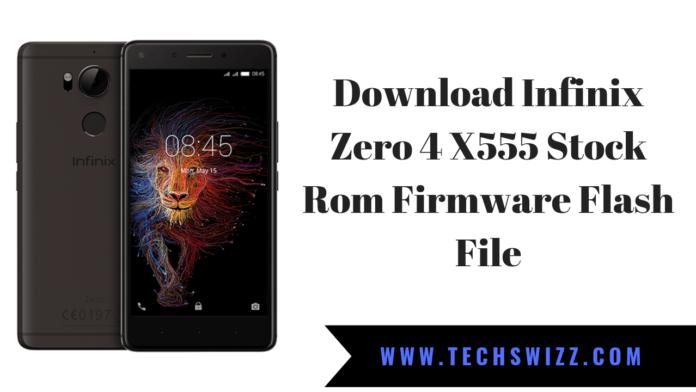 Download Infinix Zero 4 X555 Stock Rom Firmware Flash File