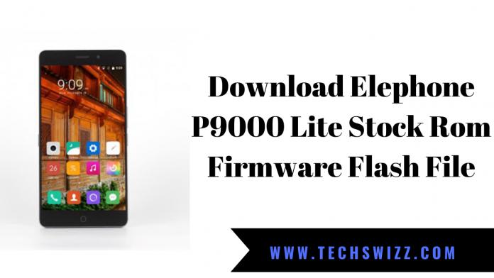 Download Elephone P9000 Lite Stock Rom Firmware Flash File