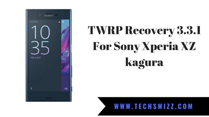 TWRP Recovery For Sony Xperia XZ kagura