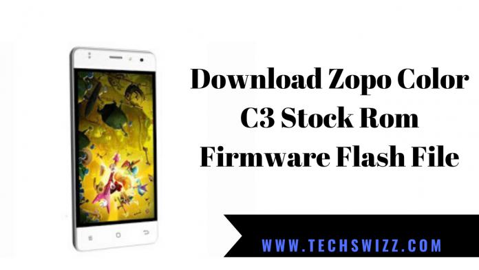 Download Zopo Color C3 Stock Rom Firmware Flash File
