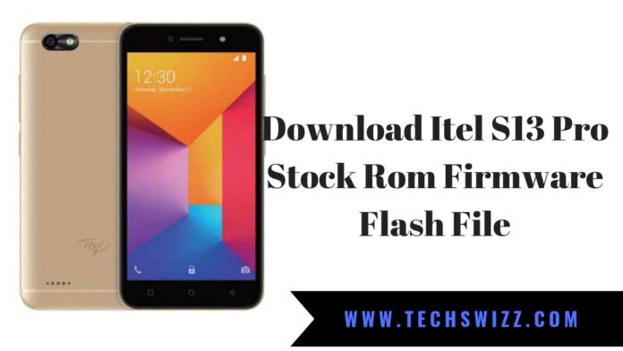 Download Itel S13 Pro Stock Rom Firmware Flash File