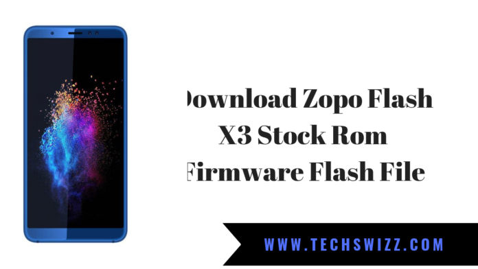 Download Zopo Flash X3 Stock Rom Firmware Flash File