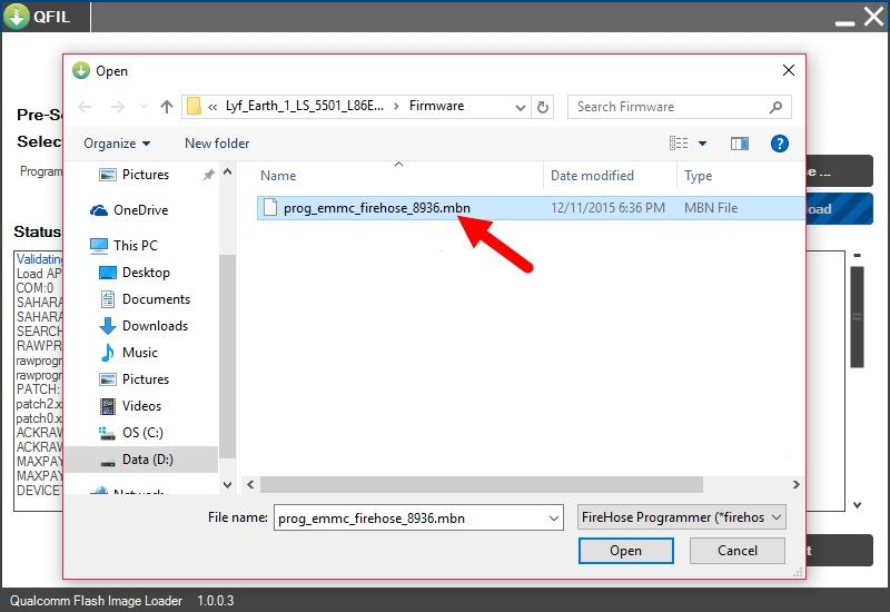 Qualcomm Flash Image Loader Tool locate
