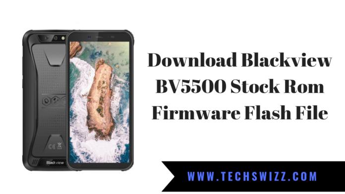 Download Blackview BV5500 Stock Rom Firmware Flash File