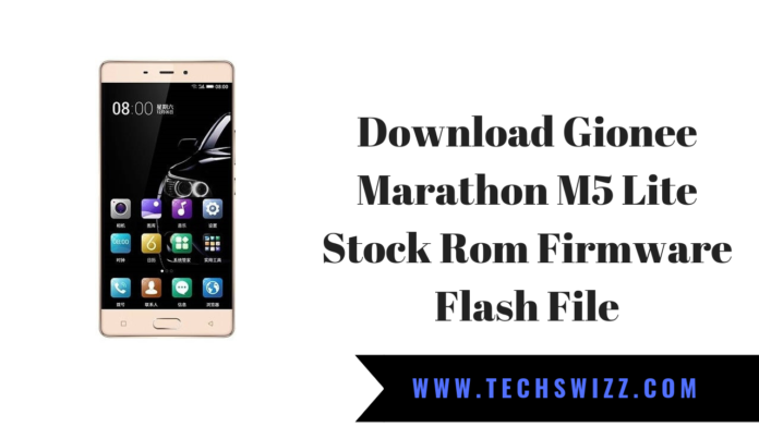 Download Gionee Marathon M5 Lite Stock Rom Firmware Flash File
