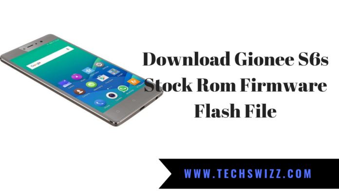 Download Gionee S6s Stock Rom Firmware Flash File