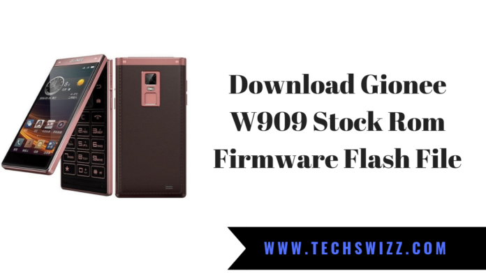 Download Gionee W909 Stock Rom Firmware Flash File