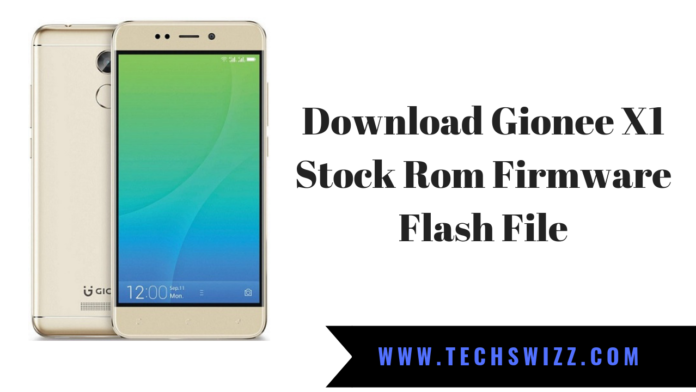Download Gionee X1 Stock Rom Firmware Flash File