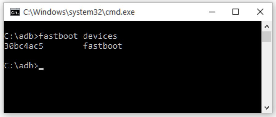 Adb cmd fastboot devices