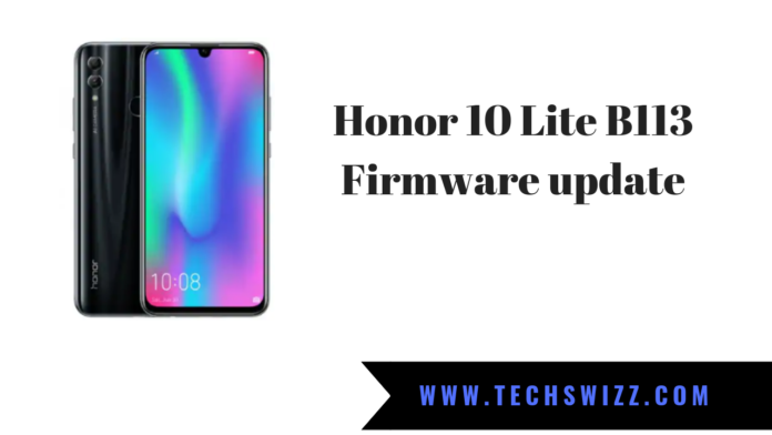 Download Honor 10 Lite B113 Firmware update