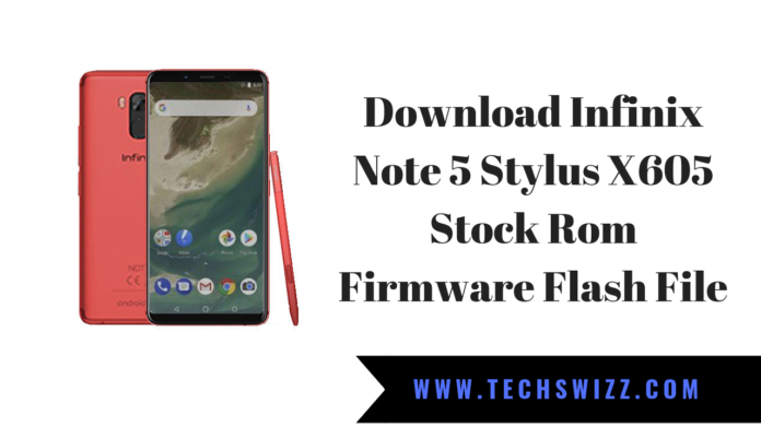 Download Infinix Note 5 Stylus X605 Stock Rom Firmware Flash File
