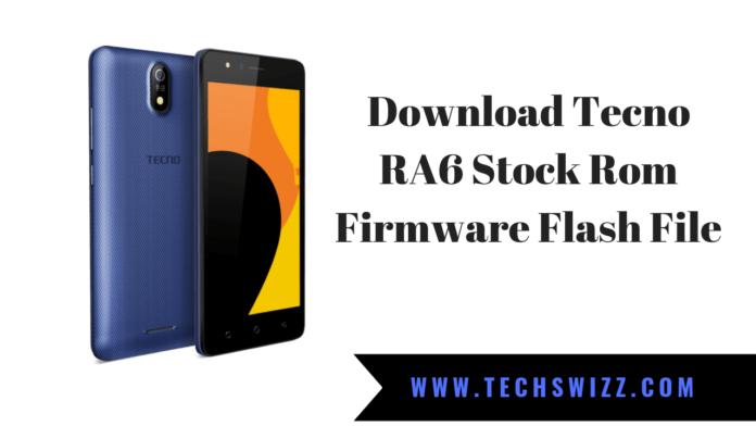 Download Tecno RA6 Stock Rom Firmware Flash File