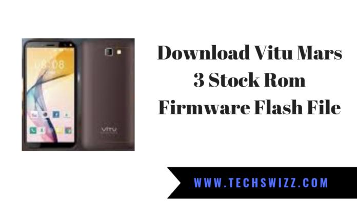 Download Vitu Mars 3 Stock Rom Firmware Flash File