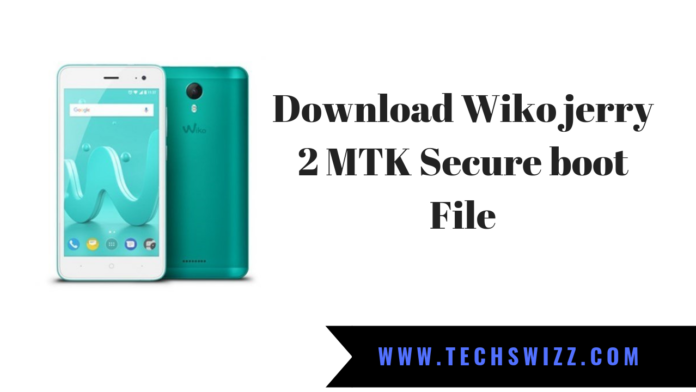 Download Wiko jerry 2 MTK Secure boot File