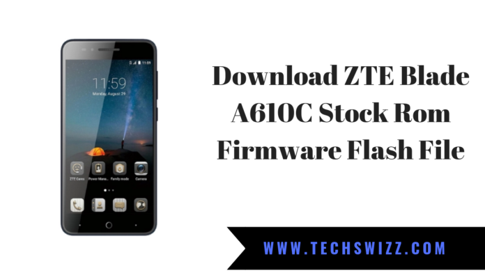 Download ZTE Blade A610C Stock Rom Firmware Flash File