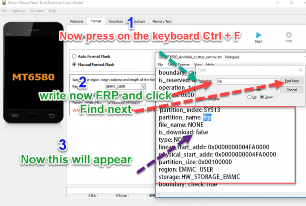 Press CTRL + F on your keyboard And type FRP
