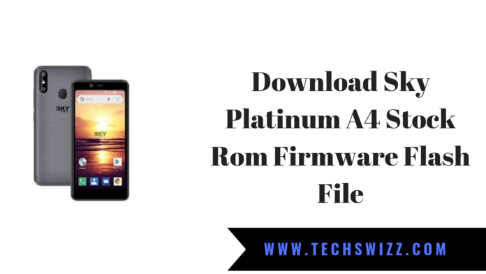 Download Sky Platinum A4 Stock Rom Firmware Flash File