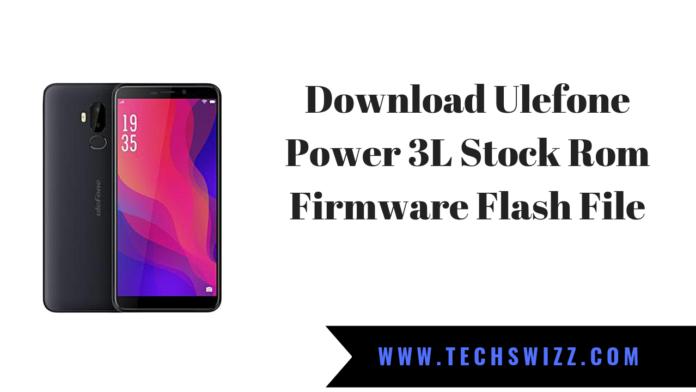 Download Ulefone Power 3L Stock Rom Firmware Flash File