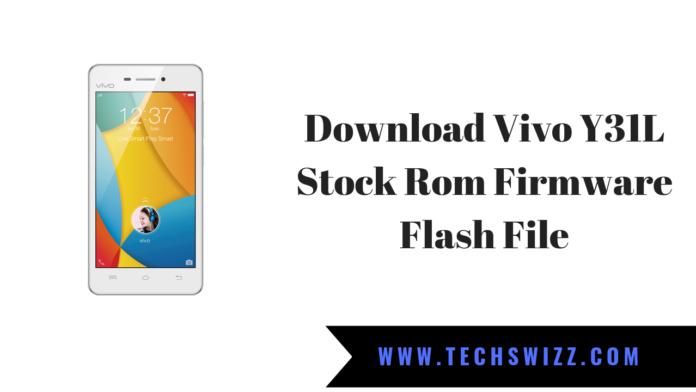 Download Vivo Y31L Stock Rom Firmware Flash File