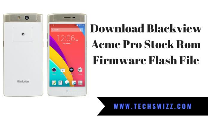 Blackview Acme Pro Stock Rom