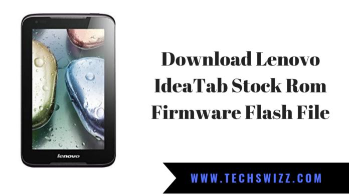 Download Lenovo IdeaTab Stock Rom Firmware Flash File