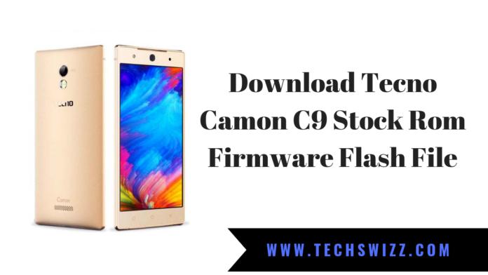 Download Tecno Camon C9 Stock Rom Firmware Flash File