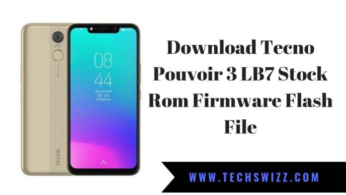 Download Tecno Pouvoir 3 LB7 Stock Rom Firmware Flash File