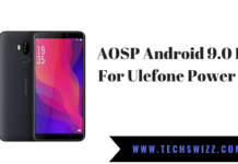 AOSP Android 9.0 Pie For Ulefone Power 3L