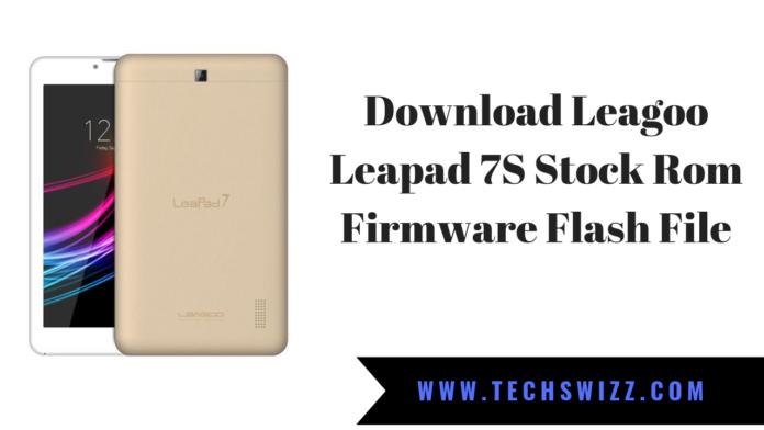 Download Leagoo Leapad 7S Stock Rom Firmware Flash File