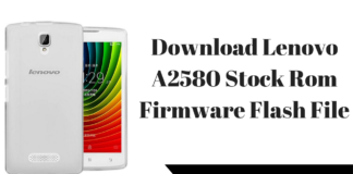 Download Lenovo A2580 Stock Rom Firmware Flash File