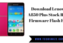 Download Lenovo A850 Plus Stock Rom Firmware Flash File