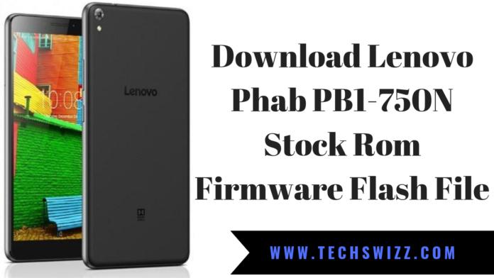 Download Lenovo Phab PB1-750N Stock Rom Firmware Flash File