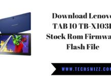 Download Lenovo TAB 10 TB-X103F Stock Rom Firmware Flash File