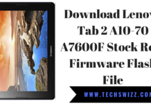Download Lenovo Tab 2 A10-70 A7600F Stock Rom Firmware Flash File