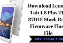 Download Lenovo Tab 4 8 Plus TB-8704F Stock Rom Firmware Flash File