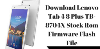 Lenovo Tab 4 8 Plus TB-8704X Stock Firmware Archives ~ Techswizz
