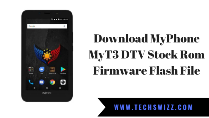 Download MyPhone MyT3 DTV Stock Rom Firmware Flash File