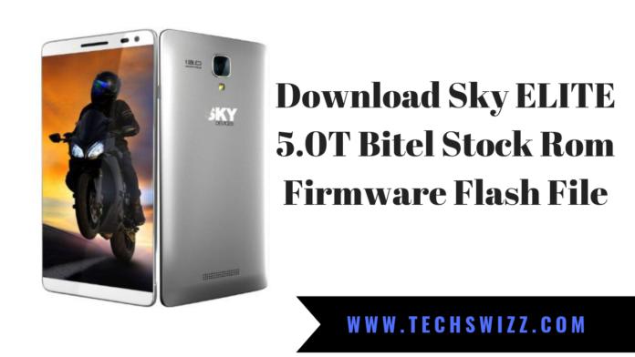 Sky ELITE 5.0T Bitel Stock Rom Firmware Flash File