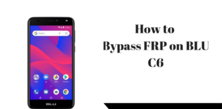 How to Bypass FRP on BLU C6