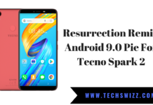 Resurrection Remix Android 9.0 Pie For Tecno Spark 2