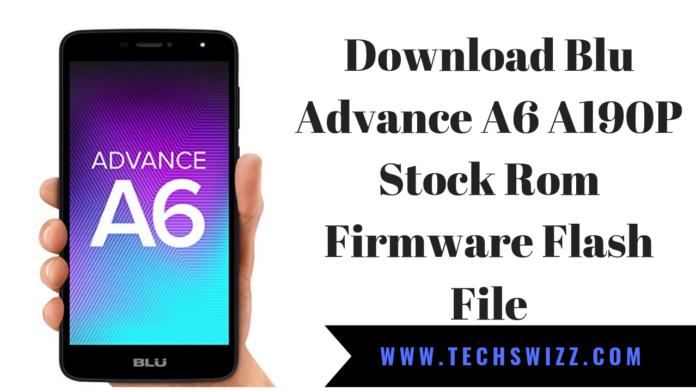 Download Blu Advance A6 A190P Stock Rom Firmware Flash File