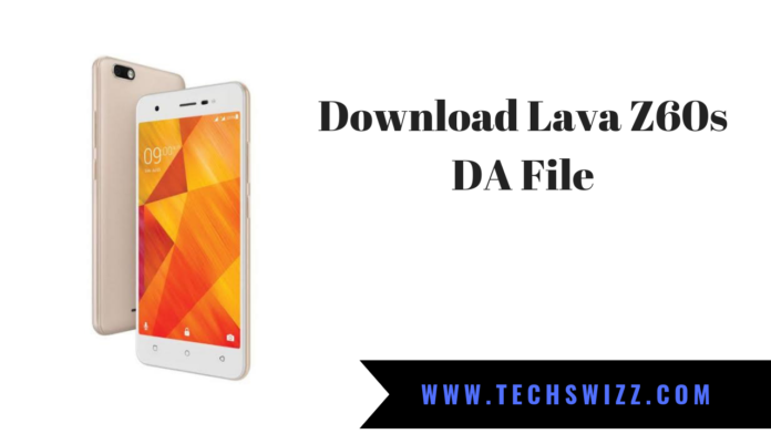 DA File for Lava Z60s
