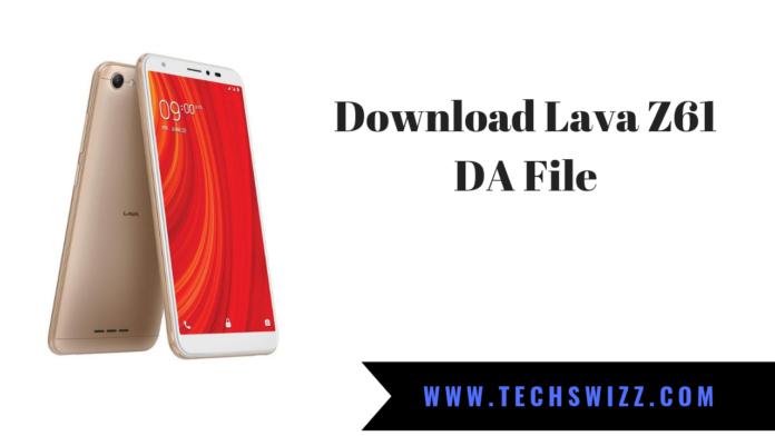 Download Lava Z61 DA File