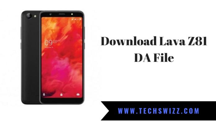 Download Lava Z81 DA File