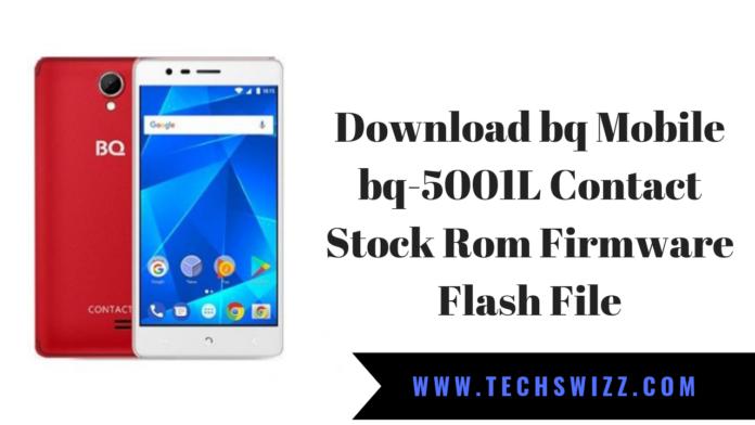 Download bq Mobile bq-5001L Contact Stock Rom Firmware Flash File