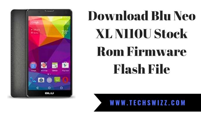Download Blu Neo XL N110U Stock Rom Firmware Flash File