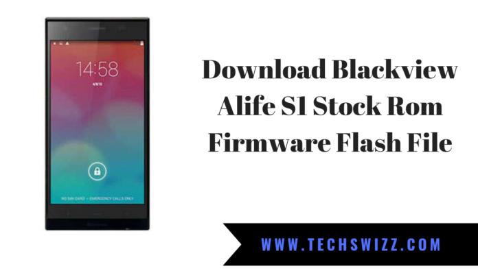 Download Blackview Alife S1 Stock Rom Firmware Flash File