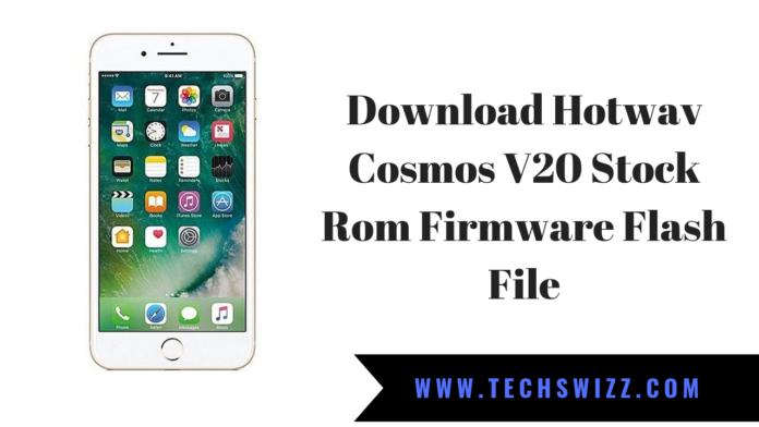 Download Hotwav Cosmos V20 Stock Rom Firmware Flash File