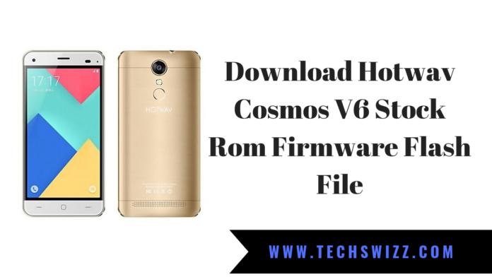 Download Hotwav Cosmos V6 Stock Rom Firmware Flash File