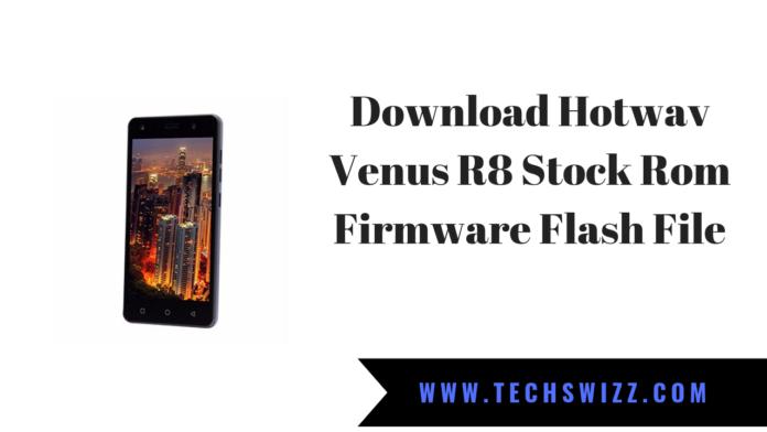 Download Hotwav Venus R8 Stock Rom Firmware Flash File